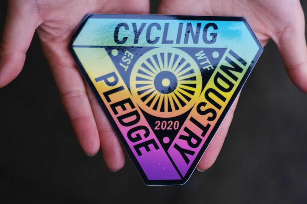 Image of Cycling Industry Pledge Sticker