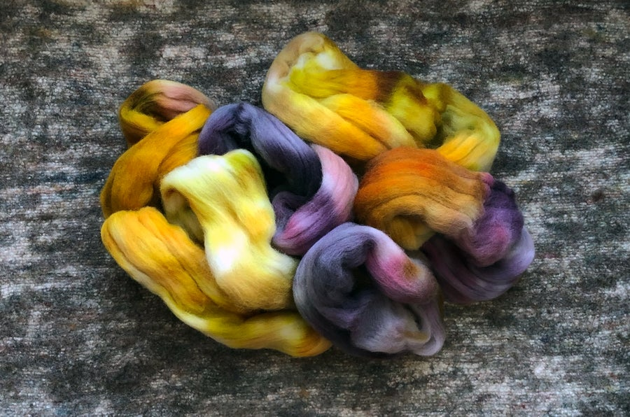 "Image of ""Fantasque"" Hand-dyed Falkland Merino Spinning Fiber - 4 oz."