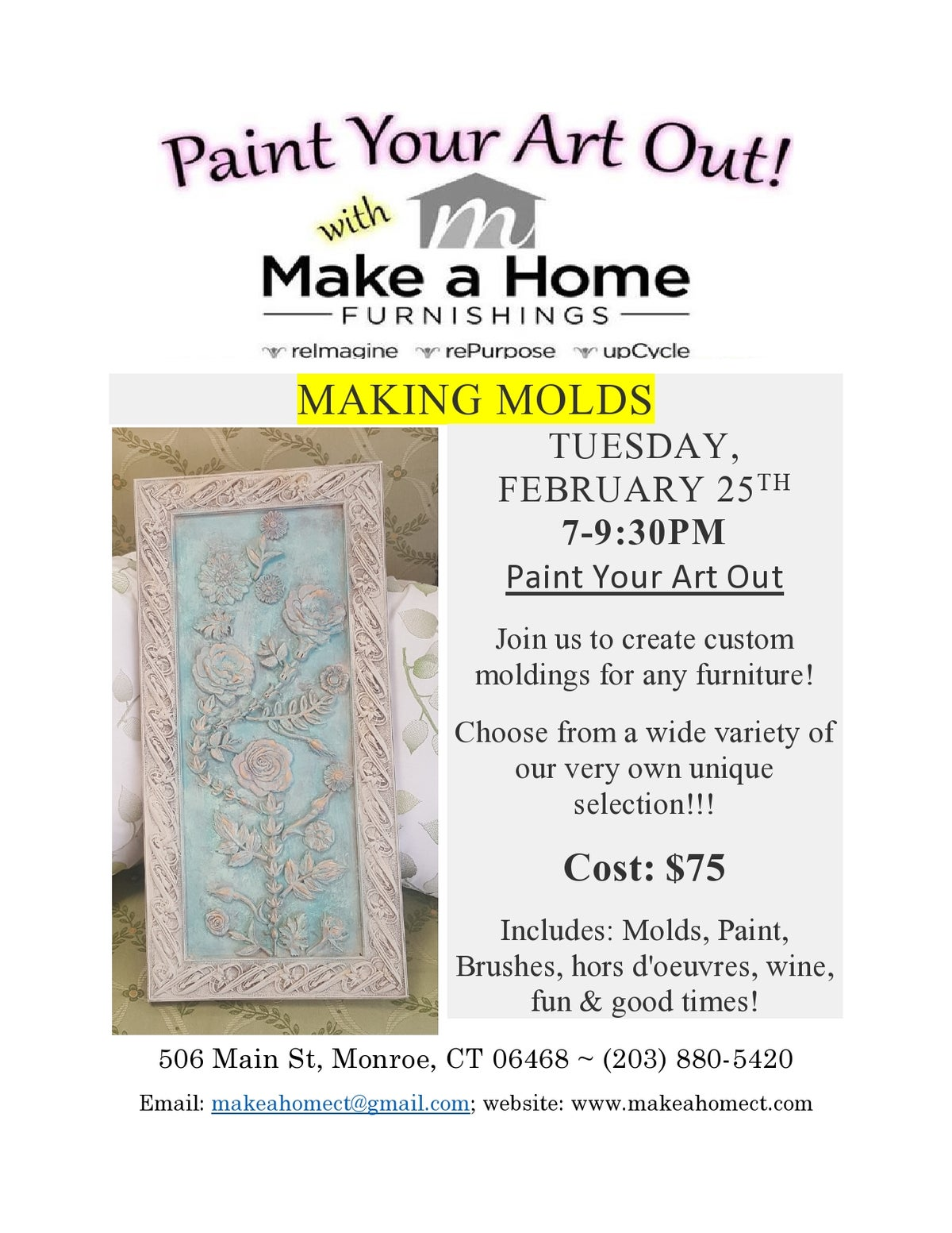 Image of MAKING MOLDS - TUESDAY, February 25TH   7-9:30PM