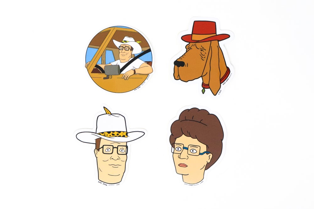 King of the Hill Decal Stickers