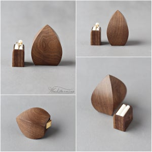 Image of Unique engagement ring box - flower bud