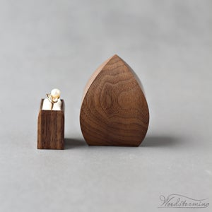 Image of Unique ring box for proposal - flower bud, ready to ship
