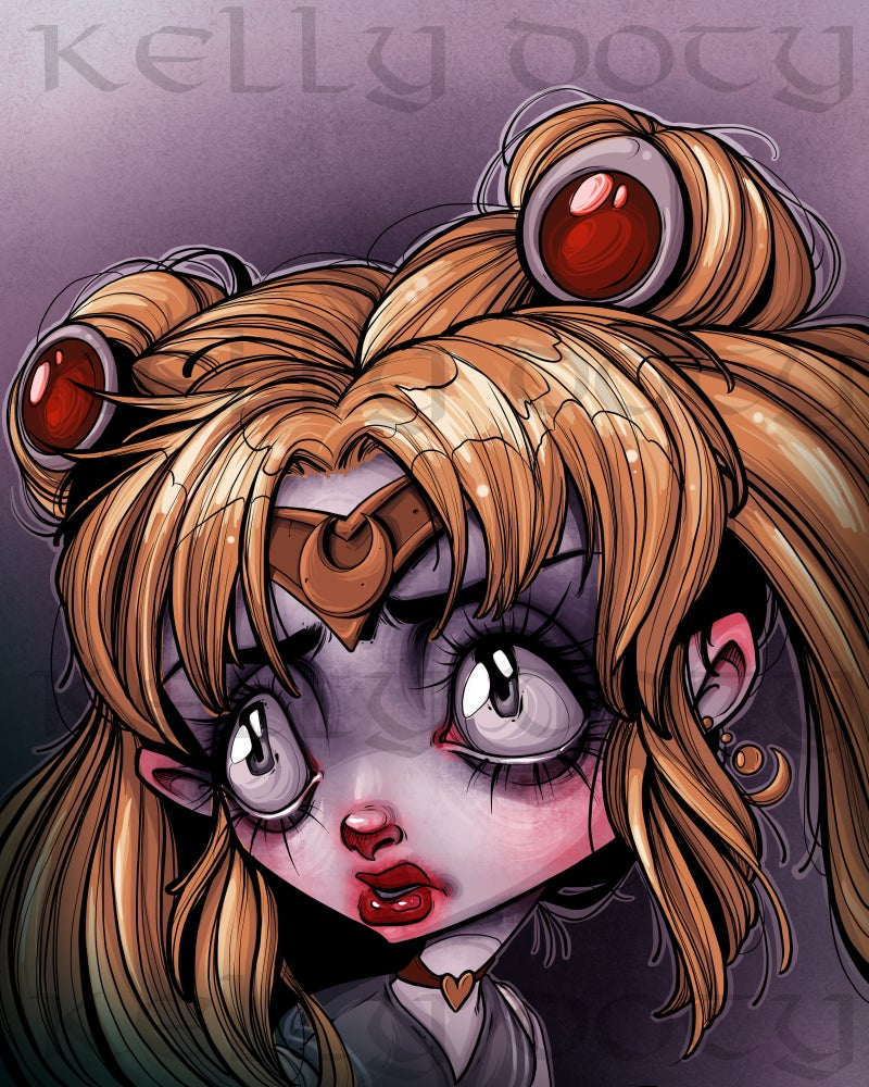 Image of Sailor Moon, but Haunted