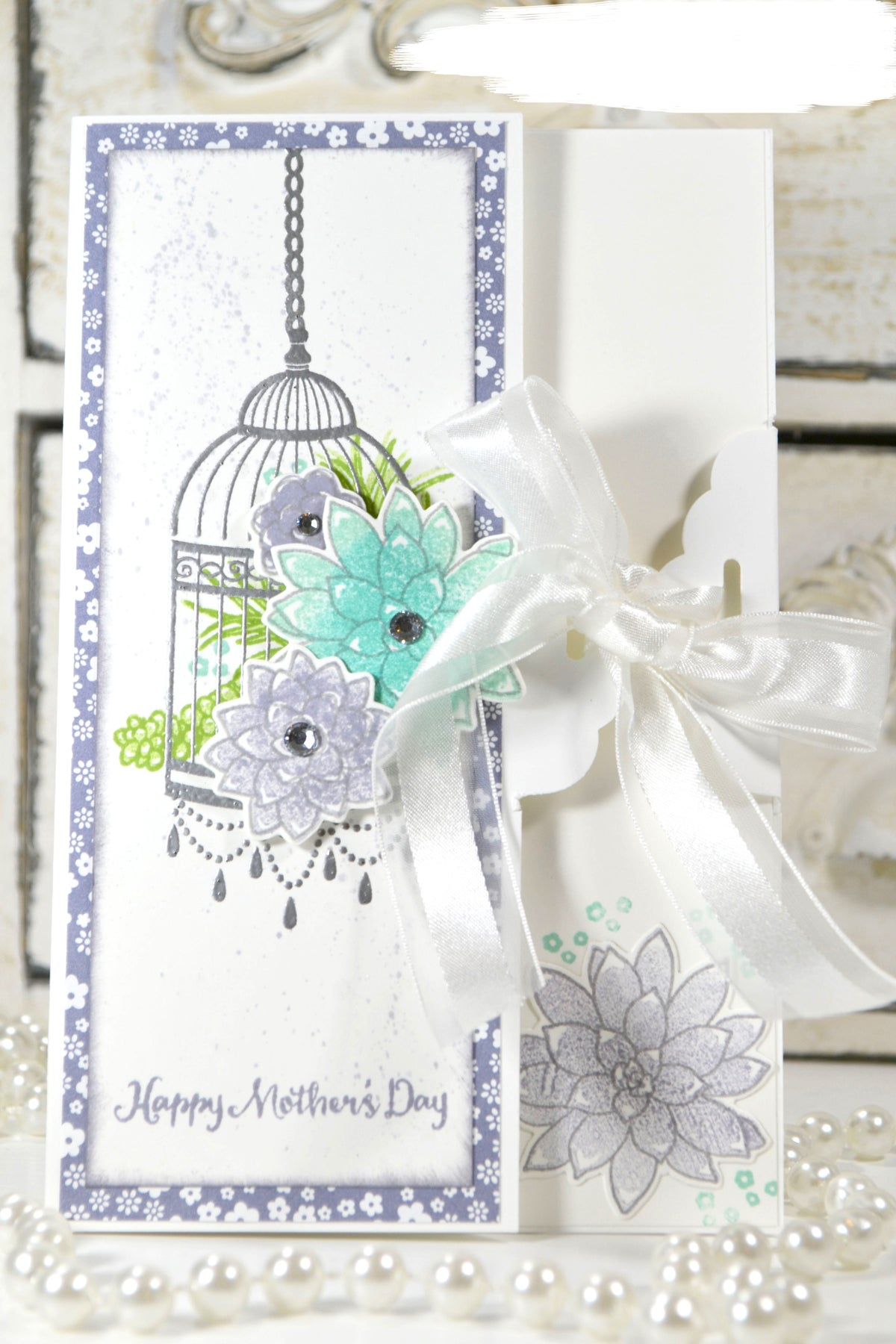 Image of Mother's Day Succulent Greeting Card and Gift Bag