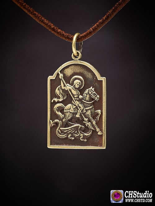 Image of Pendant : Saint George the Victorious : Necklace / keychai