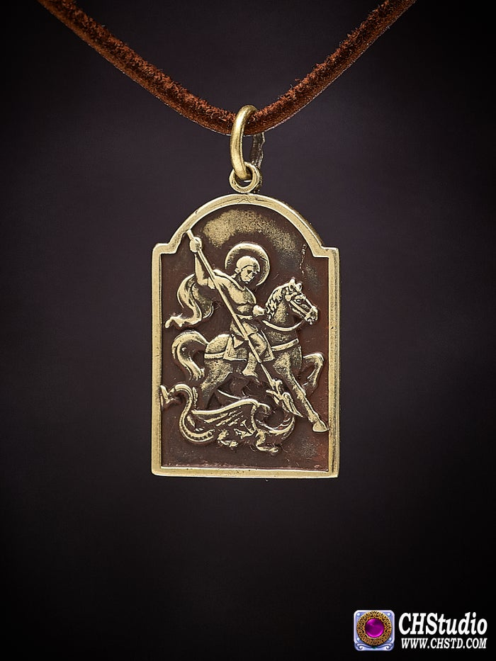 Pendant : Saint George the Victorious : Necklace / keychai