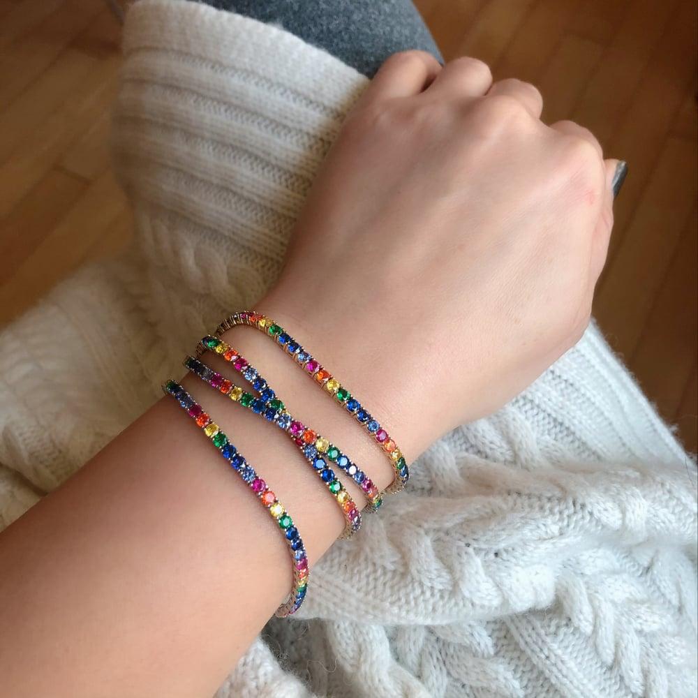 Image of Luxe Rainbow Tennis Bracelet