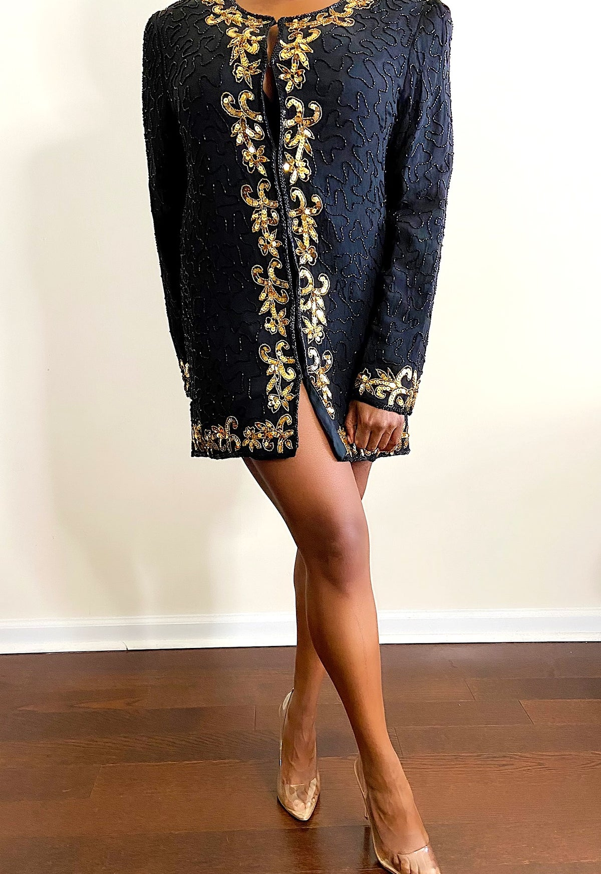 Image of Vintage Beaded Mini-Dress/Blazer - M/L
