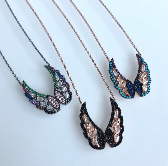 Image of Art Deco Winged Necklace