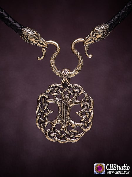 Image of YGGDRASIL : Tree of Life :: Leather Necklace