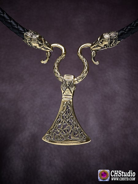 Image of Viking Axe :: Leather Necklace
