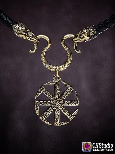 Image of Kolovrat - Solstice :: Leather Necklace
