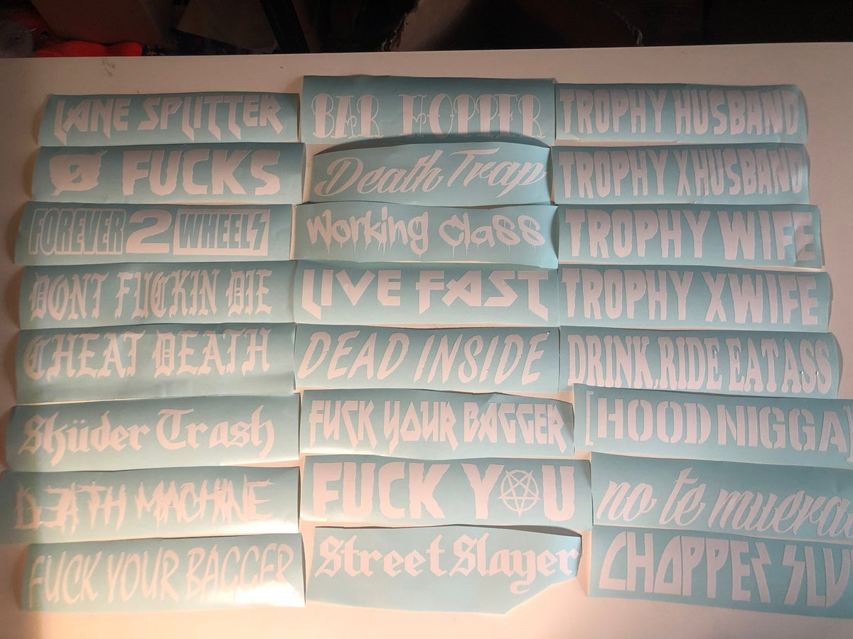 Image of Swing Arm Phrase Decals