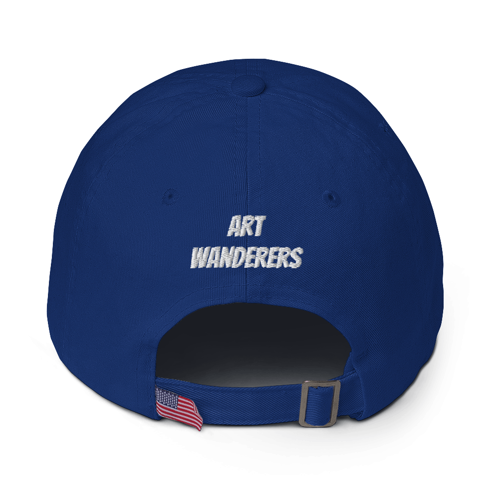 Image of No Skate/No Future - Unstructured 6 Panel Flat Embroidery Hat - Royal Blue