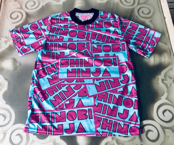 Image of All Over Print Shinobi Ninja Logo Shirt