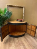 Image 2 of Dark grey & teak corner unit