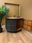 Image 4 of Dark grey & teak corner unit