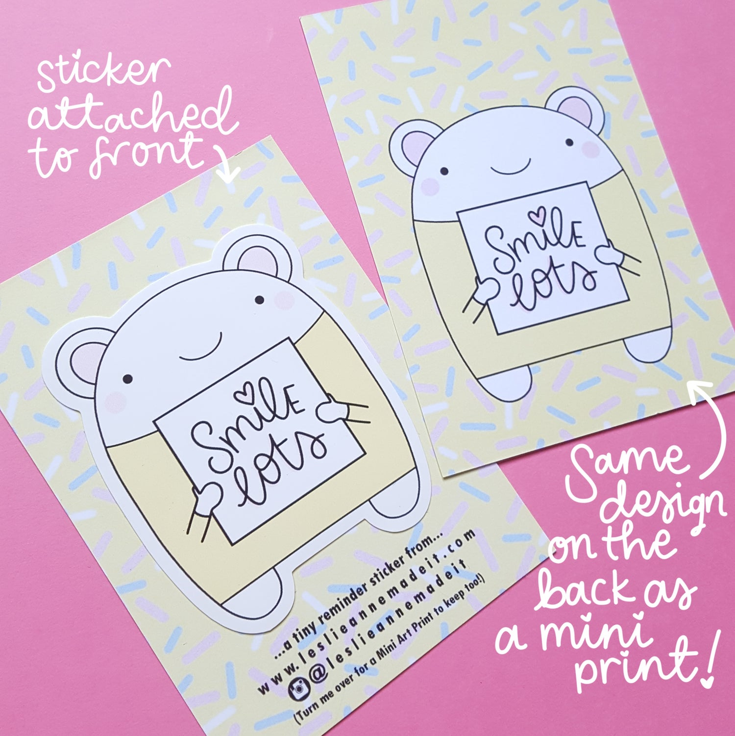 Image of Tiny Reminder Stickers (& FREE mini print!)