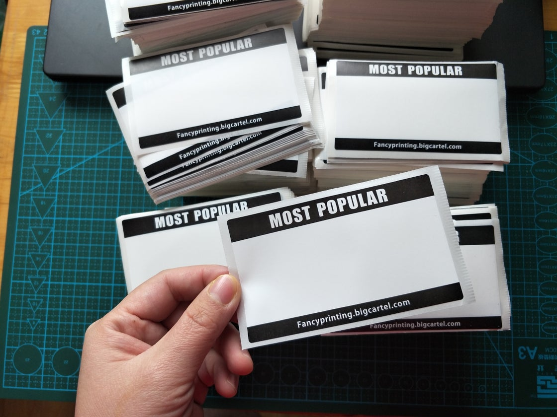 Image of COUPON for Blank Most Popular Eggshell Stickers 50/100/200pcs