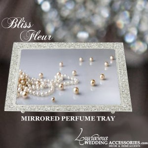 Image of Fleur Silver Mirrored Perfume Vanity Tray