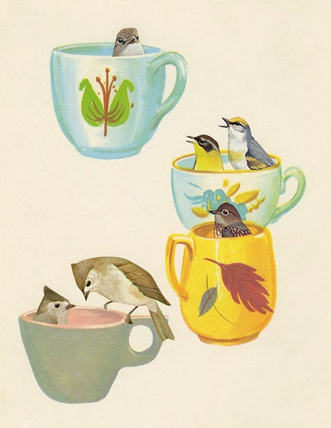 Image of Tea party. Limited edition collage print.