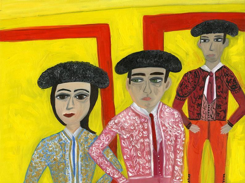 Image of The matadors of La Mancha. Limited edition print.