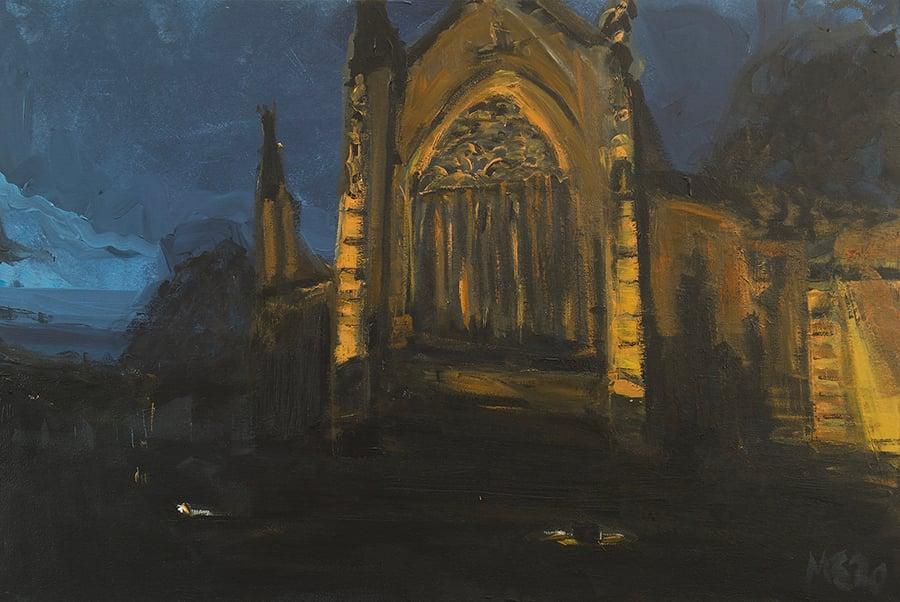 Image of Carlisle Cathedral (Winter Dusk) Original Painting