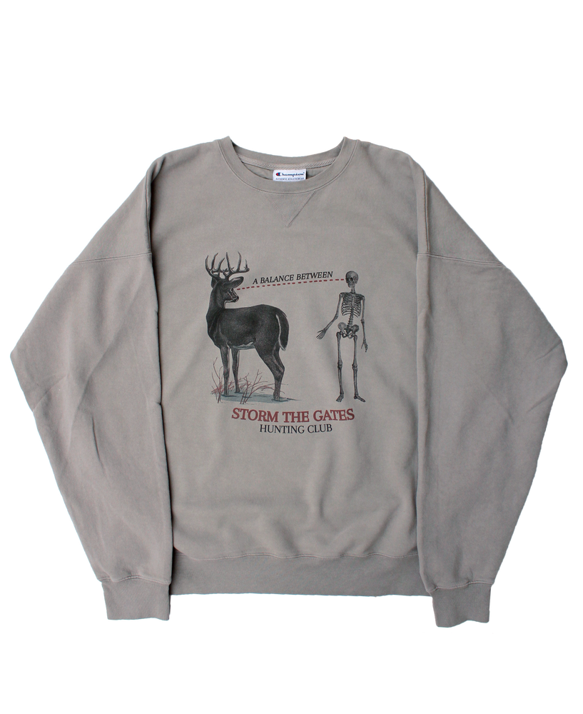 Image of HUNTING CLUB CREWNECK SWEATSHIRT (CHAMPION®)