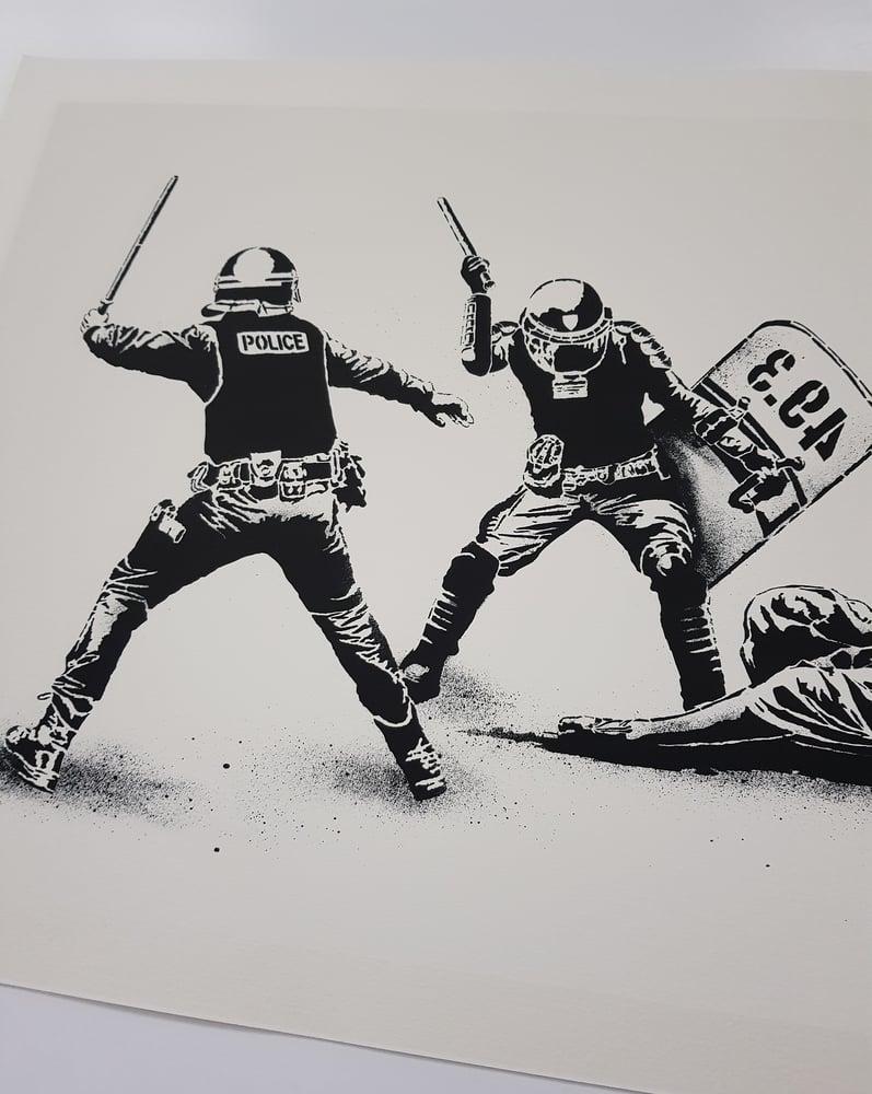 "Image of GOIN ""L`ETAT MATRAQUANT LA LIBERTE"" (THE STATE CLUBBING) - PRINTERS PROOF 4 COLOUR SCREENPRINT"