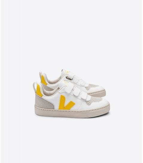 Image of VEJA VEGAN. Zapatillas veganas con velcro: White Tonic