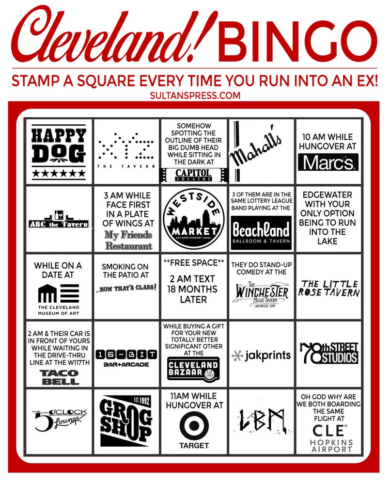 Image of Cleveland Ex Bingo Card