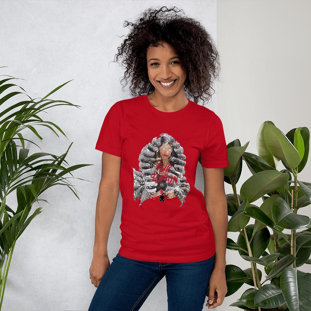 Image of Chinchilli Hand Art shirt Red L