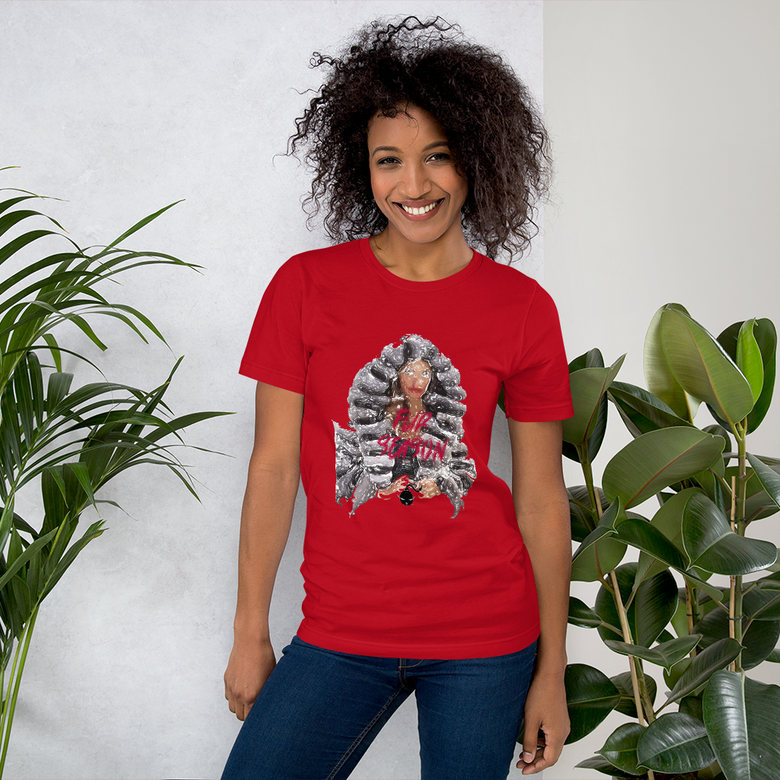 Image of Chinchilli Hand Art shirt Red L