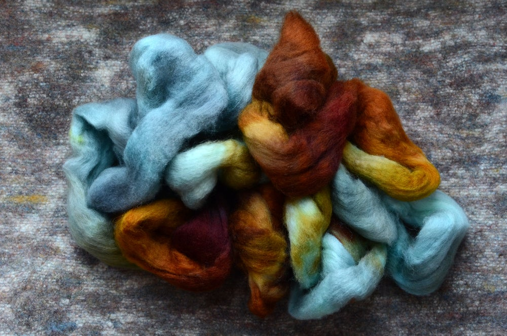 """Image of """"Trouble"""" Hand-dyed BFL Spinning Fiber - 4 oz."""