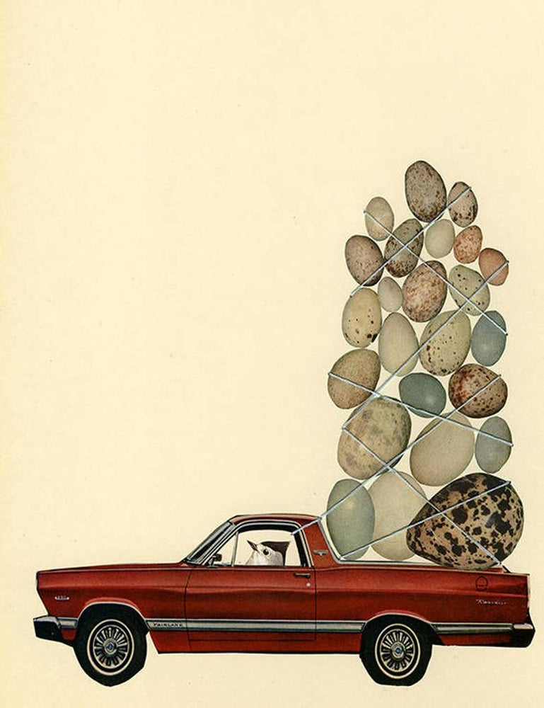 Image of Huevos Rancheros. Limited edition collage print.
