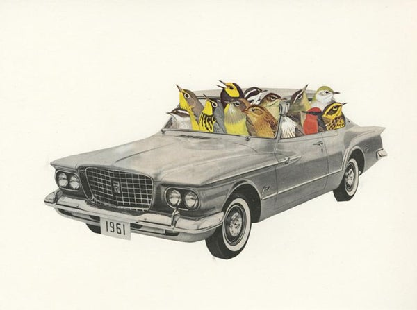 Image of Joyride. Limited edition collage print.