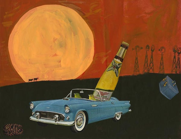 Image of Thelma and Louise. Limited edition collage print.