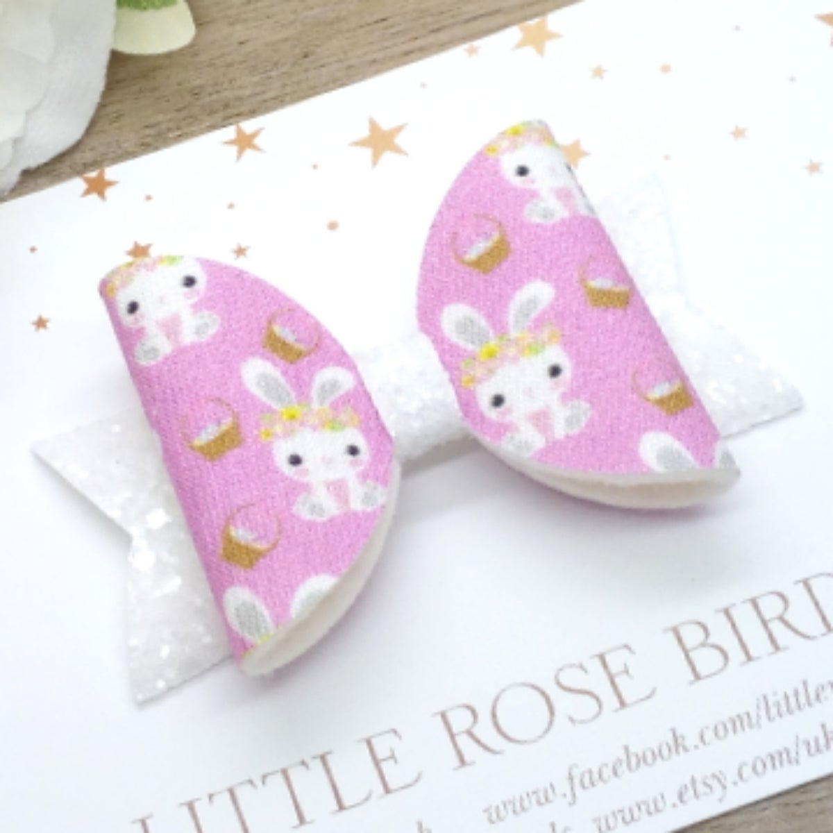 Image of Pink Bunny Easter Bow