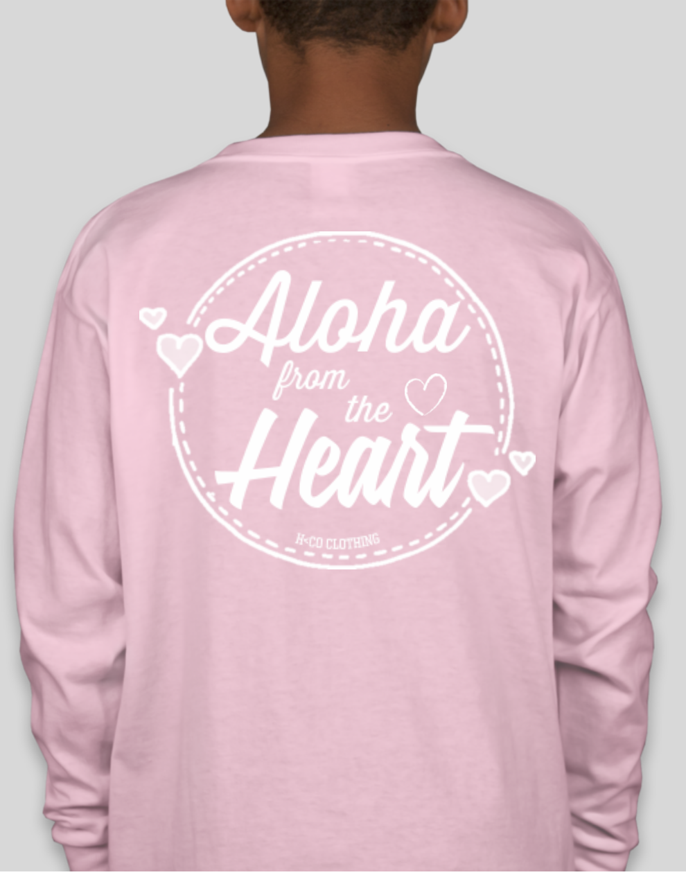 Image of Aloha from the Heart Long Sleeve (Youth)