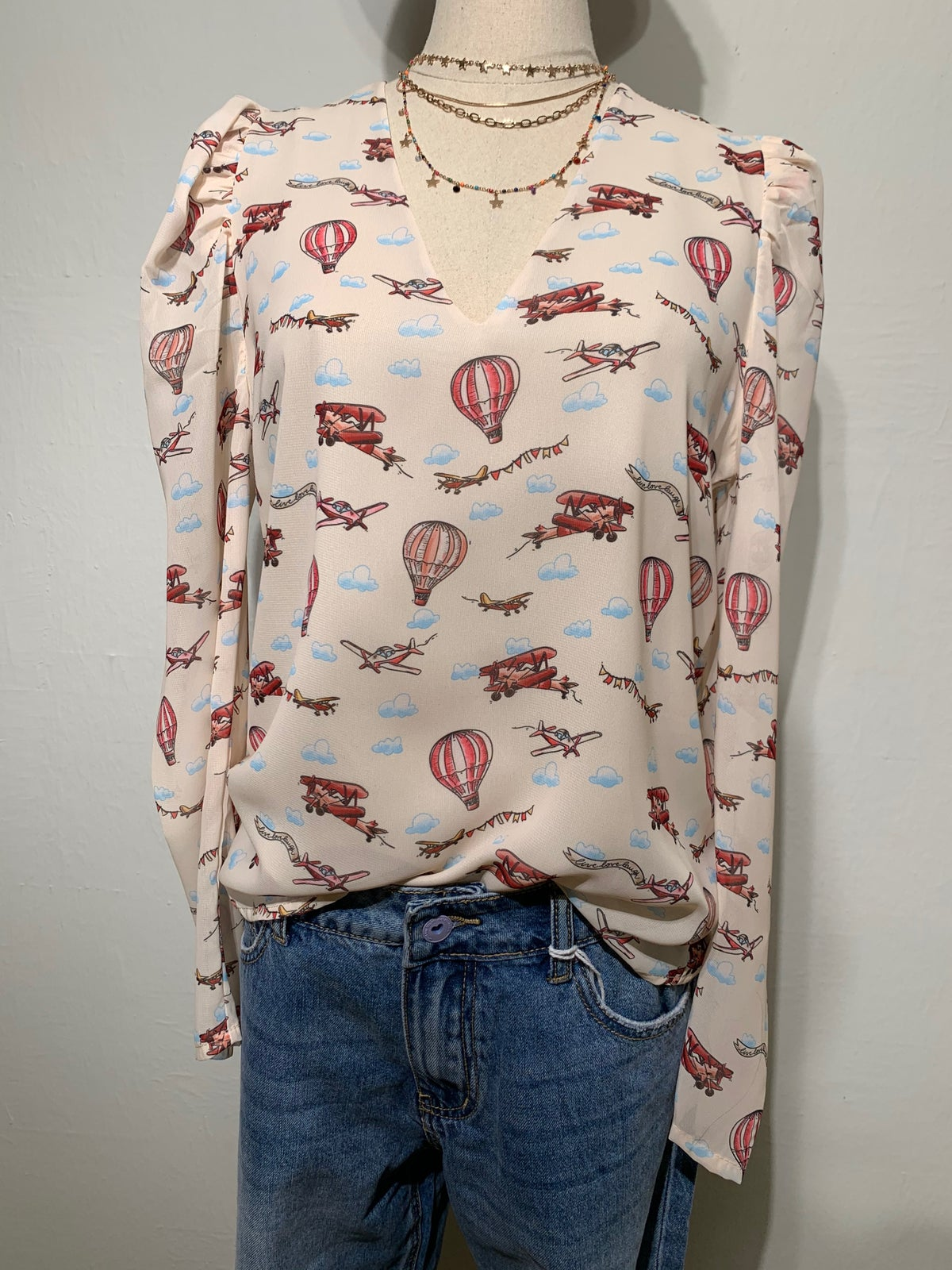 Image of BLUSA MONGOLFIERE ROSA