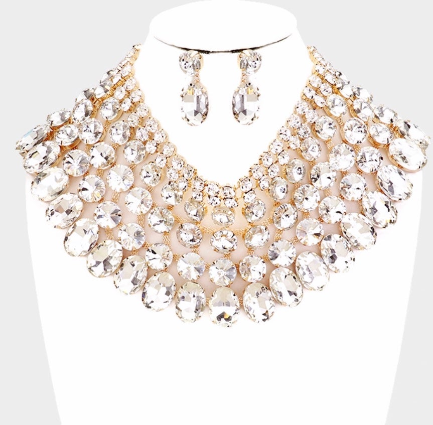 """Image of """"Janet"""" Statement  Necklace Set"""