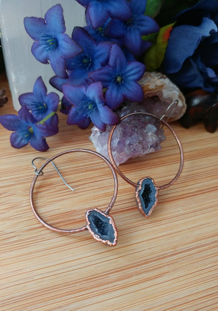 Image of Tabasco Geode Hoop Earrings