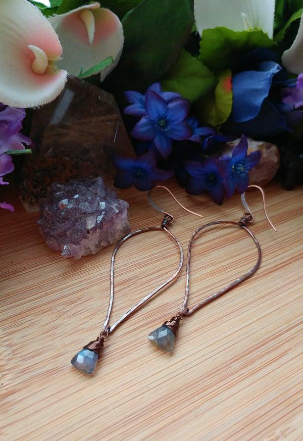 Image of Flashing Labradorite Earrings