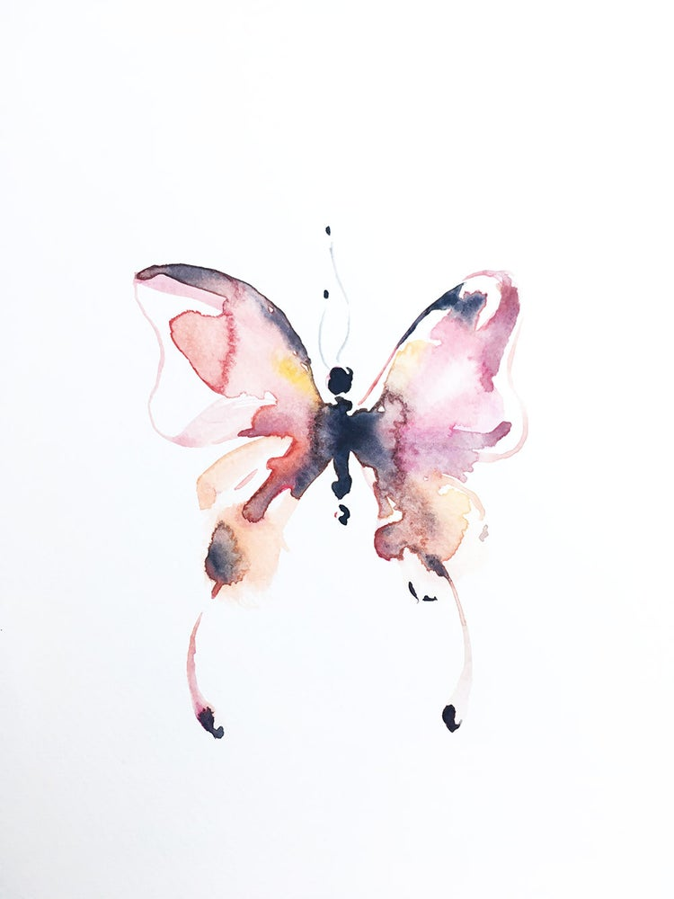 Image of Aquarelle de papillon
