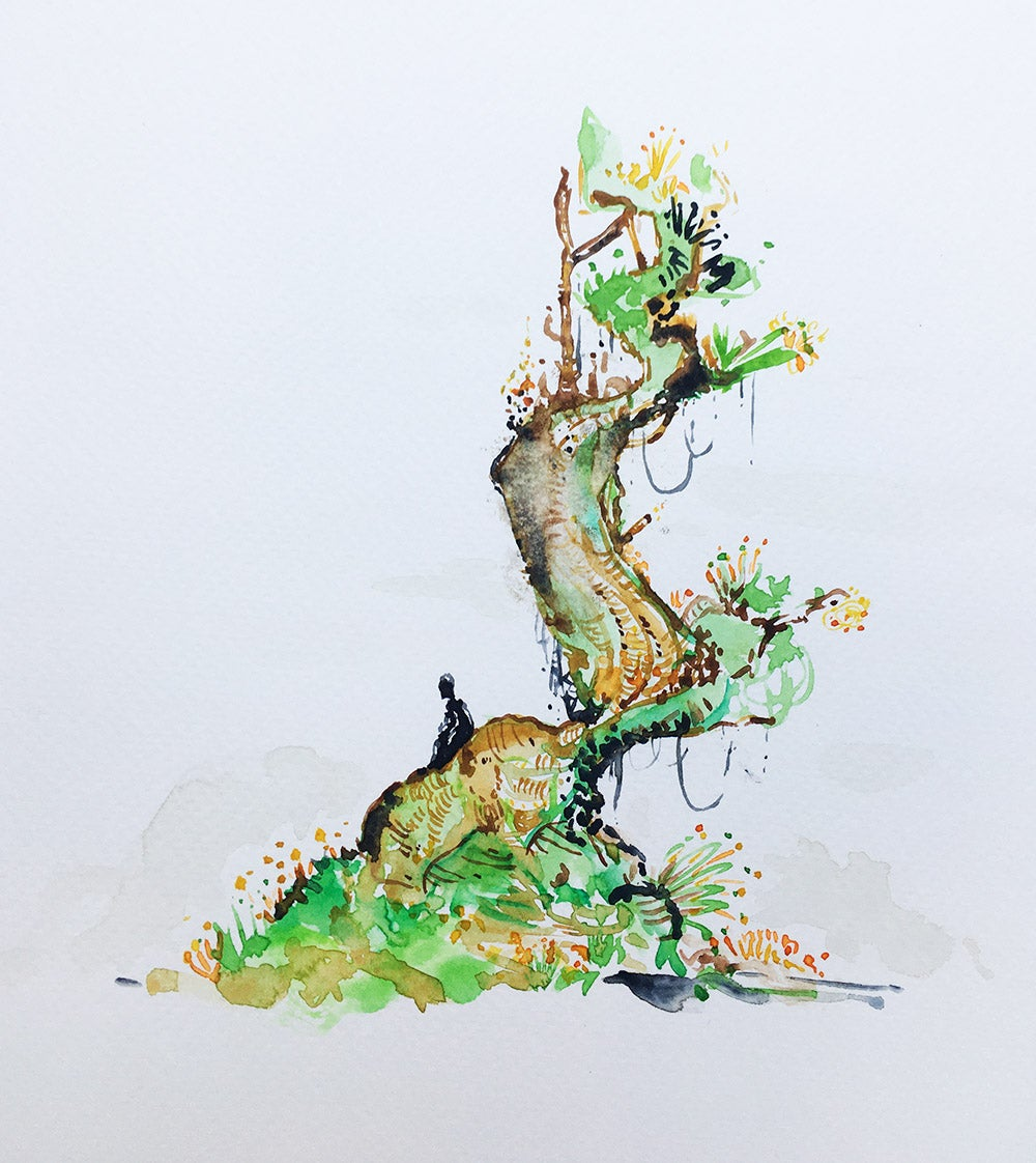 Image of Aquarelle d'un arbre enchanté