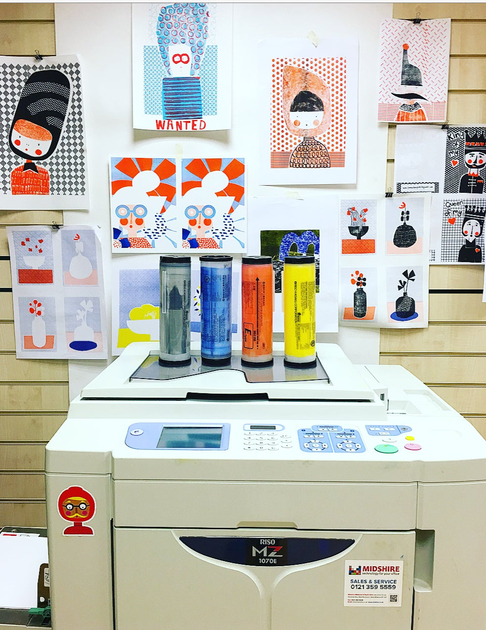 Image of A3 2 Colour Riso Workshop - Sunday 29th March 10am - 1pm
