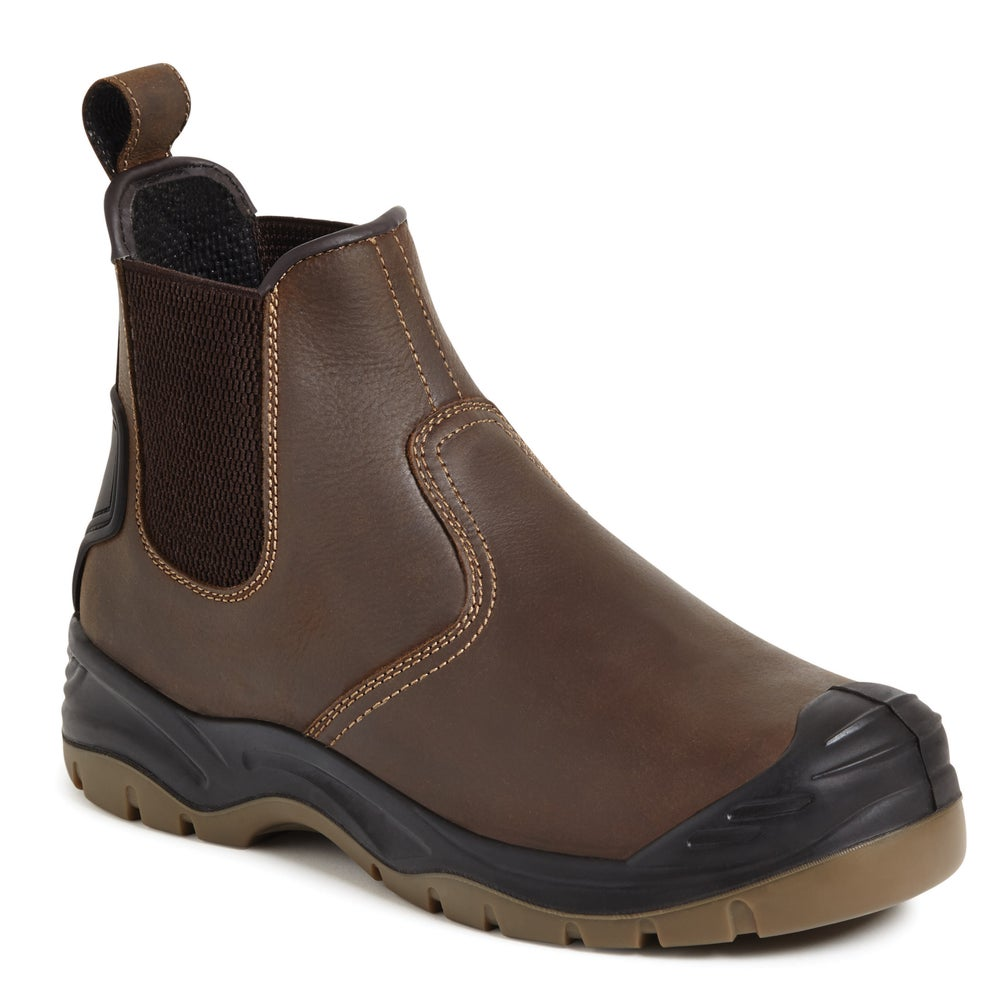 Image of Apache Brown Safety Dealer Boot S3 - AP715SM