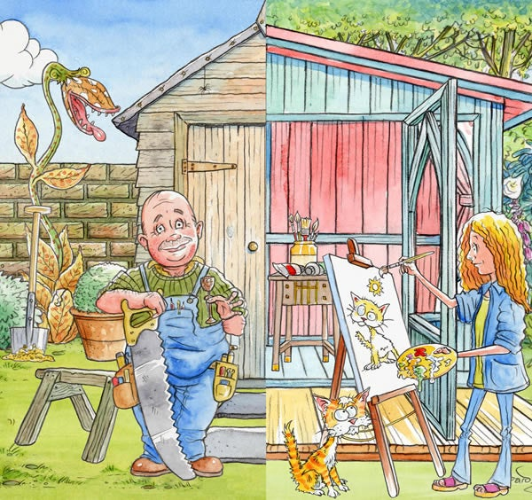 Image of Mark Bardsley - Legacy Revival: Garden Sheds His & Hers