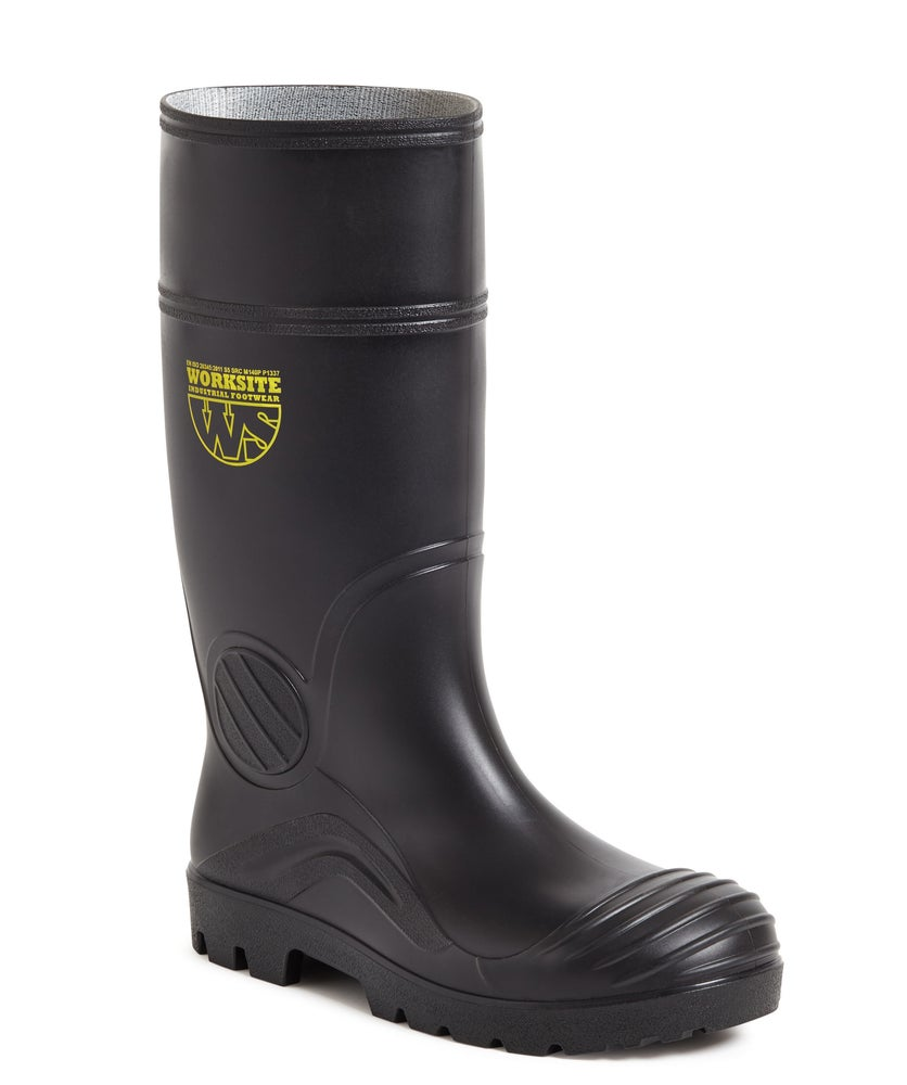 Image of Black PVC Wellington Boot S5 SRC - SS628SM
