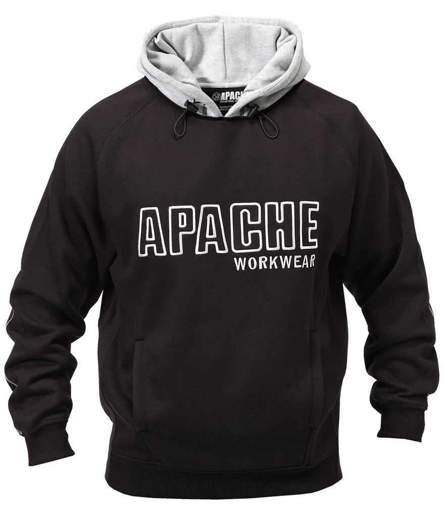 Image of Apache Hooded Sweatshirt Black / Grey